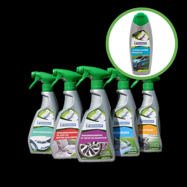 Michelin bilpleje. Pakke tilbud inkl gratis shampo